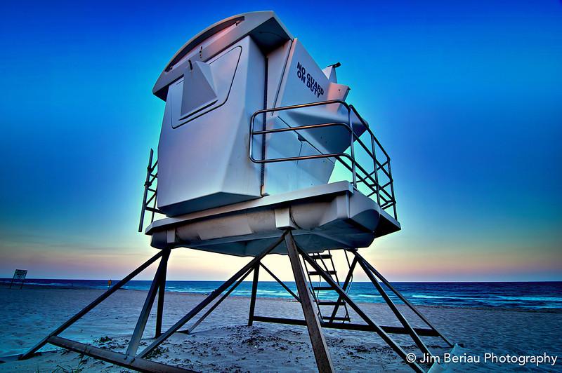 Friday, Feb. 24, 2012. No lifeguard on duty on Palm Beach.